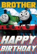 Thomas The Tank Engine Brother Birthday Card